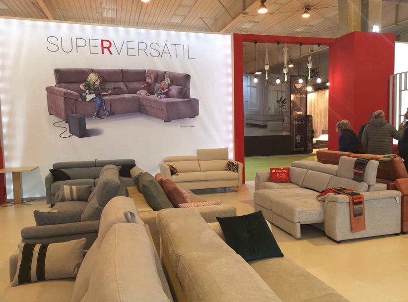 La participación de Mayor Tapizados causó gran interés en la Feria del Mueble Aragonesa